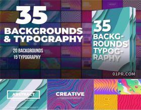 FCPX插件 35组抽象排版标题与动态背景