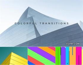 FCPX转场插件 8组彩色炫彩简单条形过渡效果公司企业旅行展示