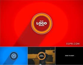 FCPX插件 优雅简洁扁平化动画标志LOGO演绎片头