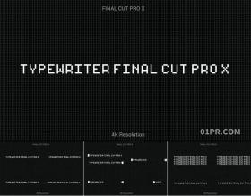 FCPX字幕插件 70组复古打字机打印动态文字效果 FCPX素材