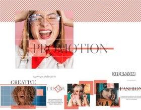 FCPX片头模板 潮流图文宣传产品展示活动开场