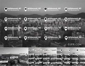 FCPX插件 9组简约位置地点指示住宅商店动态标题