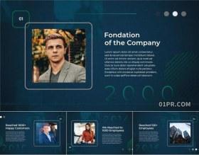 FCPX片头插件 9张58秒时间轴商务公司介绍企业宣传幻灯片