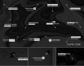 FCPX字幕插件 12组简约呼出线条指示动画文字标题