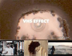 FCPX插件 8组VHS复古怀旧老电影噪音黑白效果
