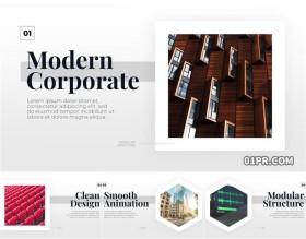 FCPX插件 现代简约白色企业展示公司介绍滑动幻灯片
