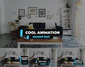 FCPX插件字幕条 12组现代时尚低三分之二动画文字标题