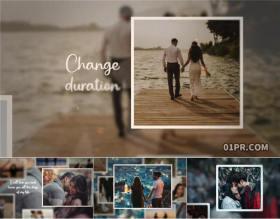 FCPX电子相册插件 94秒4K优雅悬浮婚礼生日旅行回忆