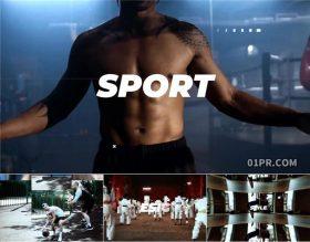 FCPX片头插件 24秒体育运动街舞篮球跆拳道网球开场介绍