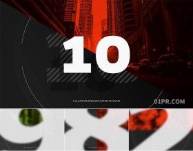 FCPX插件 10张10秒媒体倒计时片头