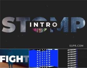 FCPX插件 12张14秒现代排版标题快节奏开场介绍