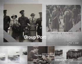 FCPX插件片头 复古历史怀旧纪录片开开场介绍相册