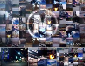 AE模板片头 30张20秒视频墙照片墙标志LOGO