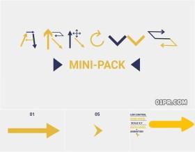 AE模板 10组4K动画指示箭头指引注意提示元素