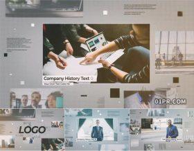 AE模板 12张61秒现代大气空间感公司介绍企业宣传