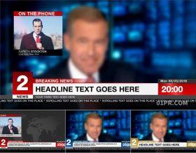 AE模板 新闻报道广播动画滚动字幕条文字标题天气预报体育赛事