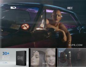 AE模板 30组VHS复古老旧摄像机取景框录制拍摄特效