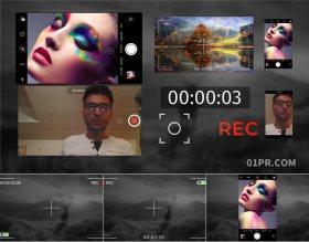 AE模板 智能手机相机拍摄录制框REC边框动画元素 AE素材包