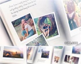 AE电子相册模板 50张100秒捕捉记忆动画书本浪漫生日旅行