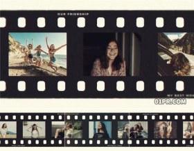 AE模板相册 40张59秒时尚电影胶带胶片旅行美食运动回忆