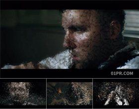 AE模板 11张66秒黑暗粉碎飘散碎片冻结帧人物介绍