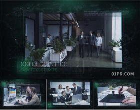 AE模板 8张现代数字电路科技网络幻灯片