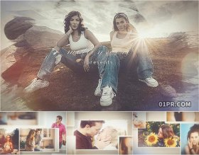 AE电子相册模板 83张照片多帧缓慢回忆纪念婚礼生日