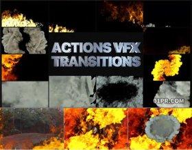 FCPX转场插件 12组烟雾烈火火焰过渡视觉特效