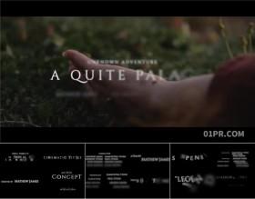 FCPX插件 30组4K电影片尾字幕演员人名结尾致谢文字