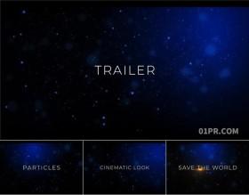 达芬奇模板 13张67秒现代大气恢宏粒子电影预告介绍标题