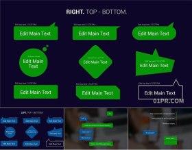 达芬奇字幕预设 10组聊天信息消息对话框动画文字