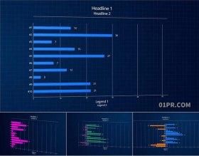 达芬奇预设 8K条形图信息数据动态统计图表 DR素材