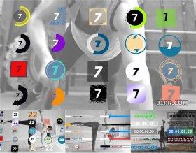 达芬奇预设 84组健身倒计时计数器进度条进程条动画元素