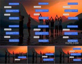 达芬奇字幕预设 4K聊天信息消息对话框文字动画