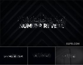 达芬奇字幕模板 8组数字粒子动画标题文字数码网络科技感