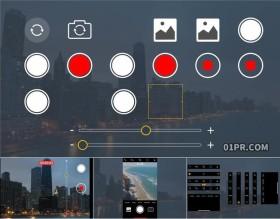 达芬奇预设 51组手机相机竖屏录制屏幕时间动画按钮图标元素