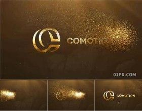 达芬奇模板 奢华黄金粒子金色标志颁奖标题LOGO演绎