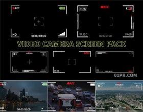 达芬奇预设 5组相机摄影头拍摄录制屏幕边框特效