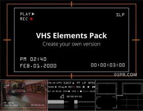 达芬奇预设 43组摄像机相机录制状态动画竖版取景框屏幕元素