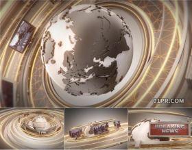 达芬奇模板片头 3D地球新闻报道广播突发事件8张27秒 DR模板