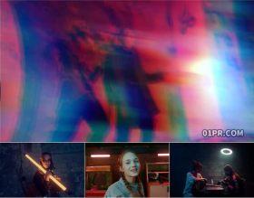 达芬奇转场预设 12组4K色差RGB摇晃震动故障过渡特效