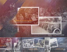 达芬奇相册模板 复古怀旧历史纪录画廊退伍回忆纪念20张109秒