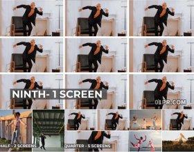 达芬奇分屏预设 4K2分3分4分9分切割划分屏幕特效