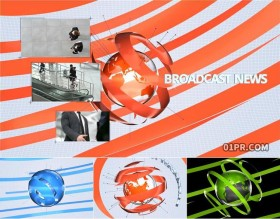 达芬奇预设片头 地球新闻报道广播开场介绍8K3媒体21秒