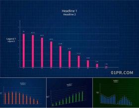 达芬奇预设 8K柱状图信息数据动态统计图表 DR预设素材