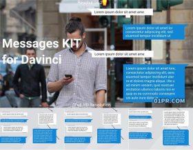 达芬奇字幕预设 聊天对话框信息消息动画文字