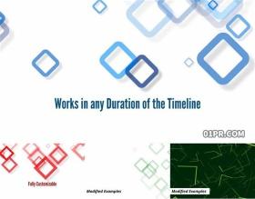 达芬奇预设 抽象形状图形动态背景效果