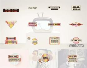 PR字幕模板 POP艺术动画文字标题