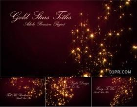 PR片头模板 金星粒子圣诞节新年庆祝