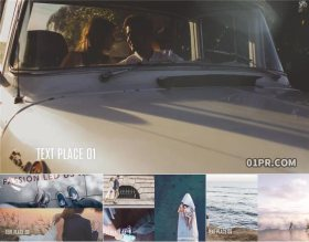 PR模板相册 简约多帧滑动旅行家庭28张照片72秒